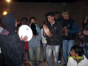 Accueil des jeunes du CFA Nature par les villageois de Imghid
