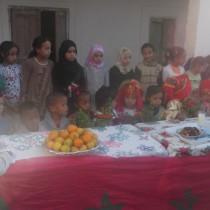 Accueil des jeunes du CFA Nature par les villageois de Ait Saleh
