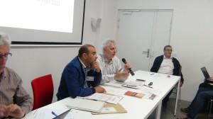 Abderrazak EL HAJRI (directeur), Jacques OULD AOUDIA (président) et Lahoussain JAMAL (fondateur)