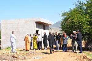 Visite sur les différents lieux des projets de la commune